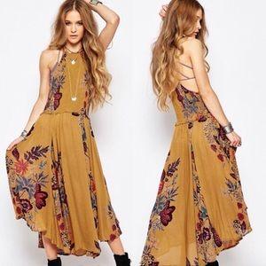 FREE PEOPLE Seasons in the Sun Floral Midi Dress